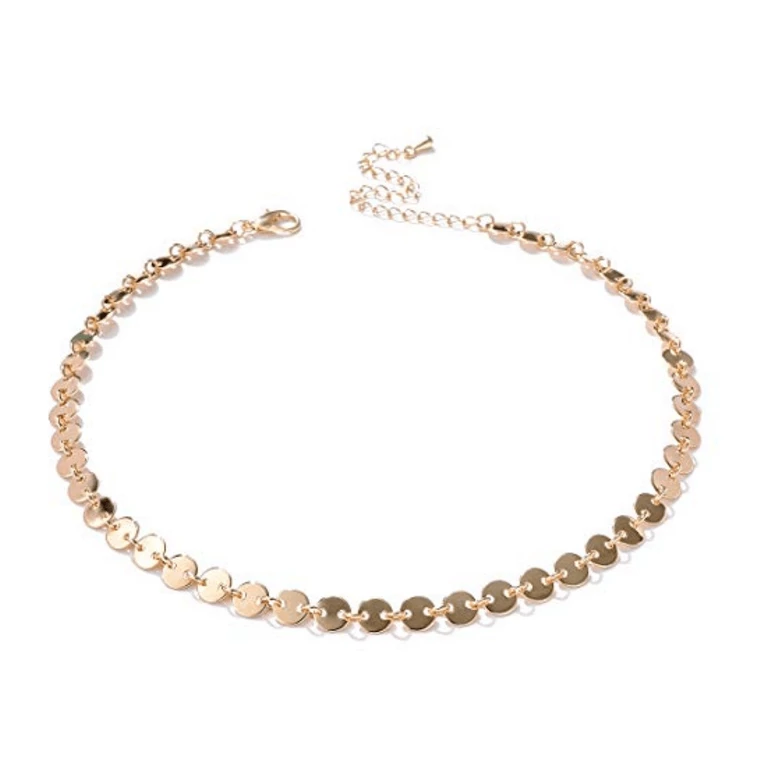 Gold-Filled Coin Style Choker - tinytags