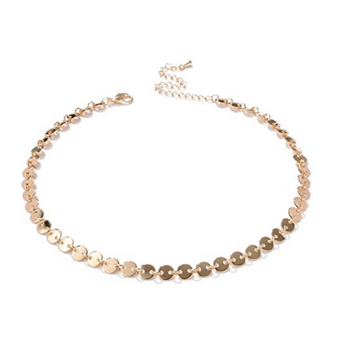 Image of Gold-Filled Coin Style Choker - tinytags