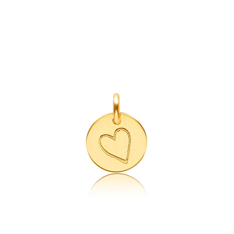 14k Gold Perfectly Imperfect Heart Charm