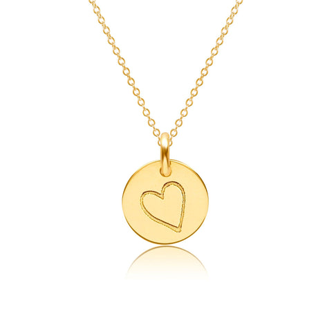 Gold Perfectly Imperfect Heart Charm Necklace