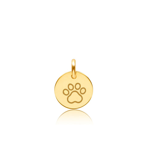Image of Gold Paw Print Charm