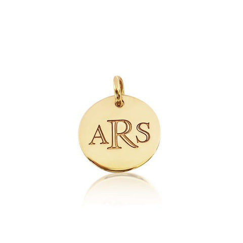14k Gold Classic Monogram Circle