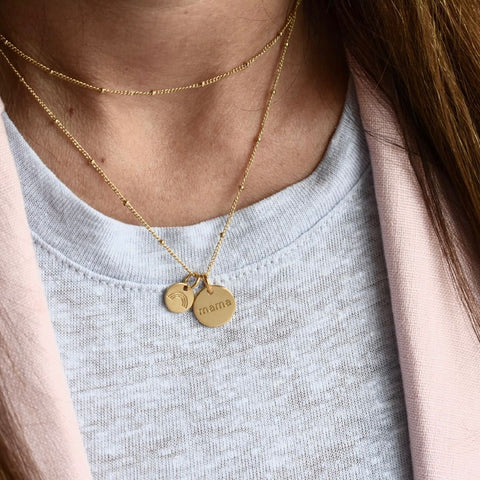 Image of Gold Circle Mama Necklace