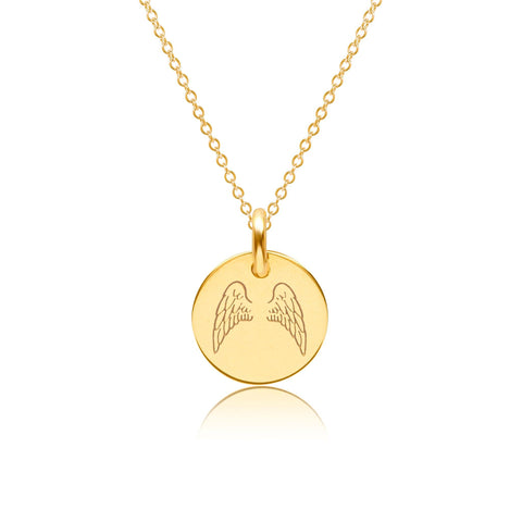 Image of 14k Gold Angel Wings Necklace