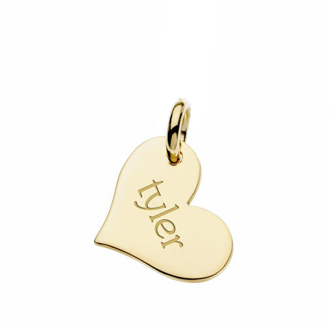 14k Gold Heart Tag