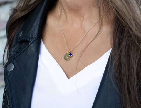 Image of September Birthstone Charm - Sapphire