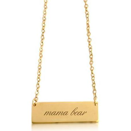 "Gold ""Mama Bear"" Necklace - tinytags"