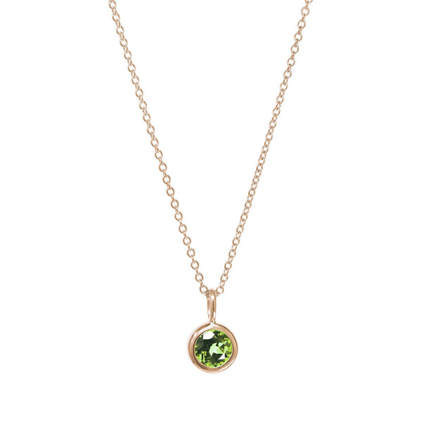 August Birthstone Necklace - Peridot