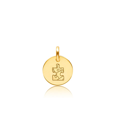 Image of Gold Autism Charm