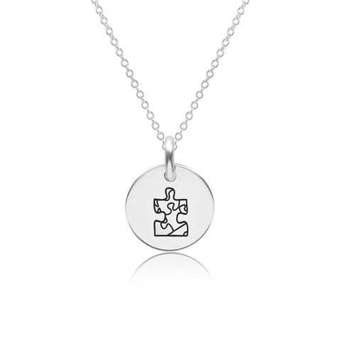 Image of Sterling Silver Autism Puzzle Piece