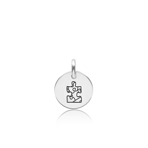 Sterling Silver Autism Puzzle Piece