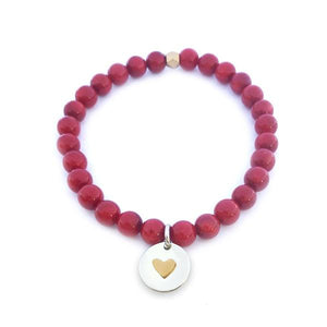MaxLove Project Heart Bracelet - Coral