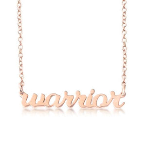 14K Gold warrior Script Nameplate Necklace