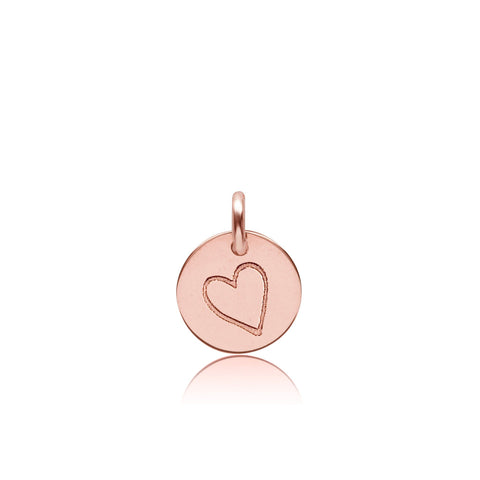 Image of 14k Gold Perfectly Imperfect Heart Charm