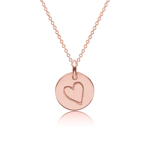 14k Gold Perfectly Imperfect Heart Charm Necklace