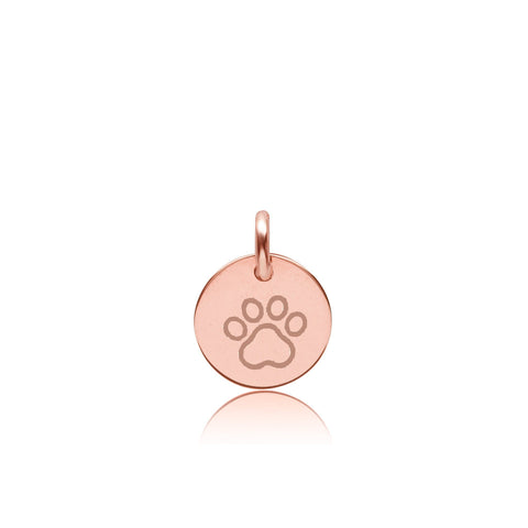 Image of 14K Gold Paw Print Charm