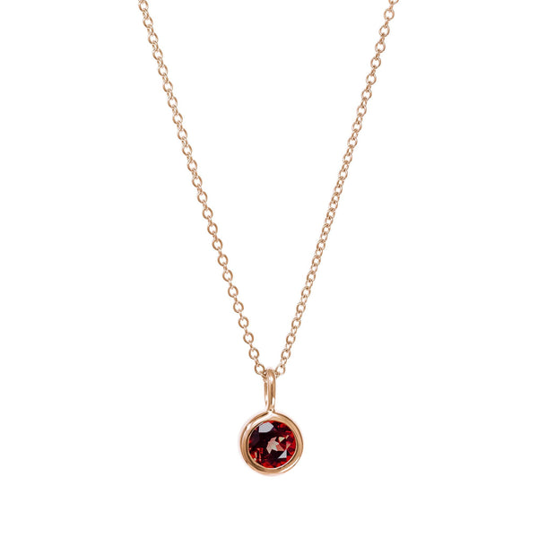 July Birthstone Necklace - Ruby
