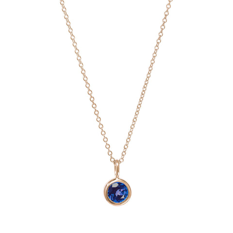Image of September Birthstone Necklace - Sapphire