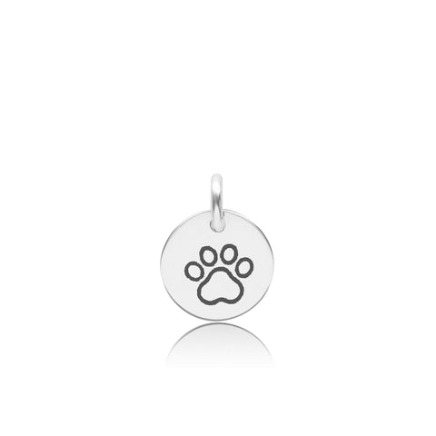 Image of Sterling Silver Paw Print
