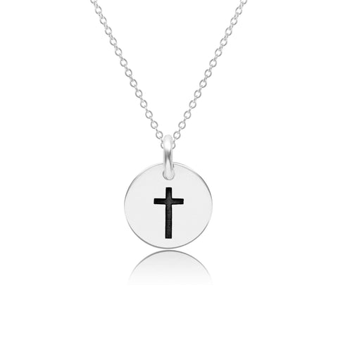 Image of Sterling Silver Cross Necklace