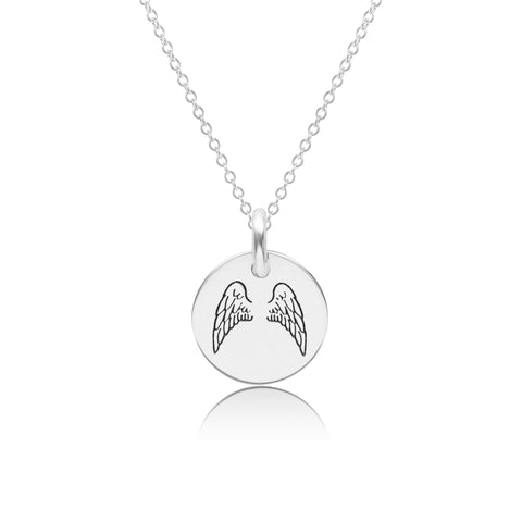 Image of Sterling Silver Angel Wings Necklace