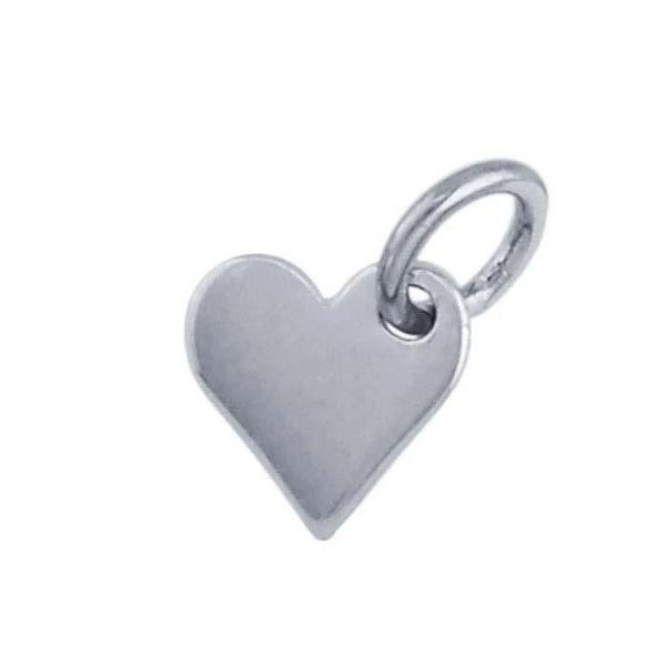 Sterling Silver Heart Charm - tinytags