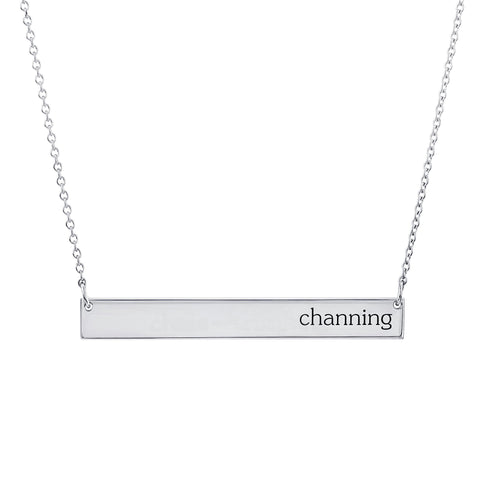 Sterling Silver Skinny Bar Necklace