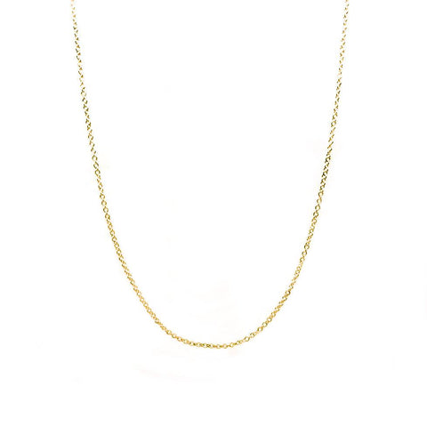 Gold Diamond Cut Chain