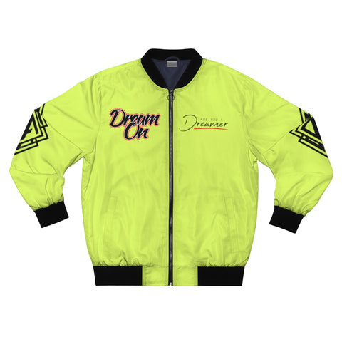 DA Dream On Bomber Jacket - Lime Green