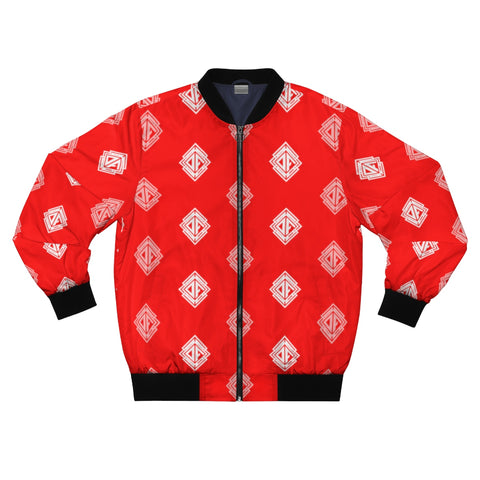 DA Print Bomber Jacket Red