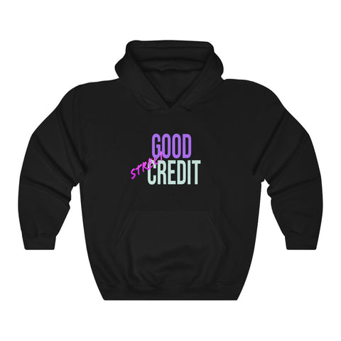Good Street Credit Hoodies WHT LOGO