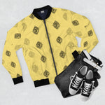 DA Print Bomber Jacket Yellow