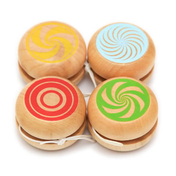 Baby Classic Toys Wooden Yoyo Toys Kids Intelligence Educational Toy Hand-Eye Coordination Development Yoyo Toy Random Color