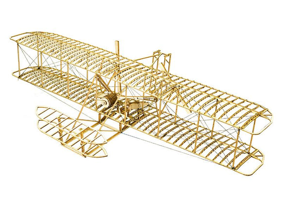 ELERC DIY Craft, Wood Furnishing Building Kits,Building Toys, Christmas Gift Present  Wright Brothers Flyer I Free Shipping