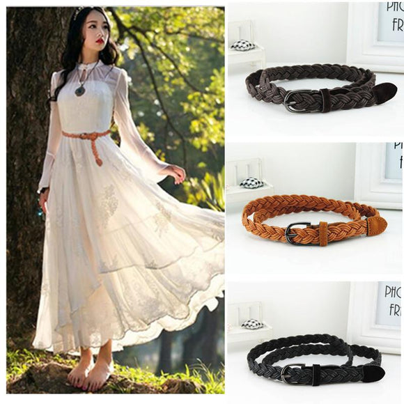 Hot Sell New Womens Belt New Style Candy Colors Hemp Rope Braid Belt Female Belt For Dress