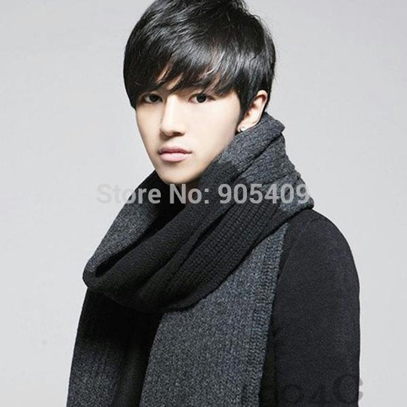 Fashion Women's Men's Thick Woolen Knit Long Scarves Plaids Pattern Scarf Shawl