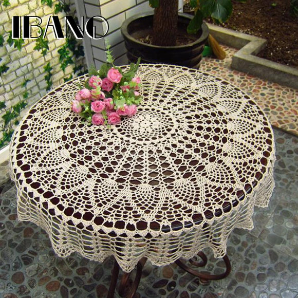 Handmade Crochet Coasters Cotton Lace Cup Mat Placemat 70/ 80/ 90 CM RD Shabby Chic Vintage DIY Crocheted Table Cloth
