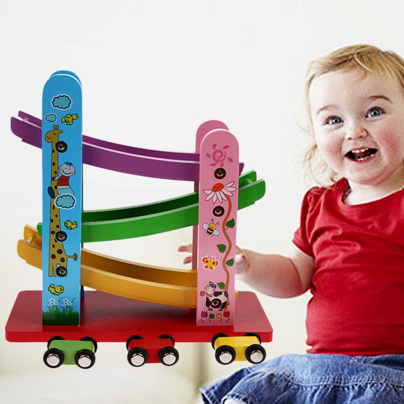 Trolley Track Kids Children Classic Toys Slippery Car New Design Environmentally Wooden Toys For Slippery Car