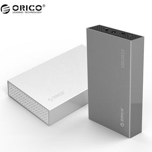 ORICO 3.5 inch Type-C Aluminum Hard Drive Enclosure with USB3.1 Gen1 to SATA3.0 Support 8TB capacity-Silver(3518C3)