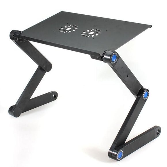 Portable Laptop Desk Computer Table 2 Holes Cooling Laptop Stand  360 Folding Desk Holder with Mouse Pad Notebook Table for Bed
