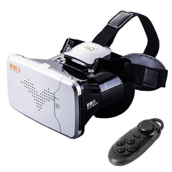 RITECH III VR Virtual Reality 3D Glasses Headset RITECH III Rift Head Mount Cardboard for 3.5-6 Phone+Bluetooth Remote Control