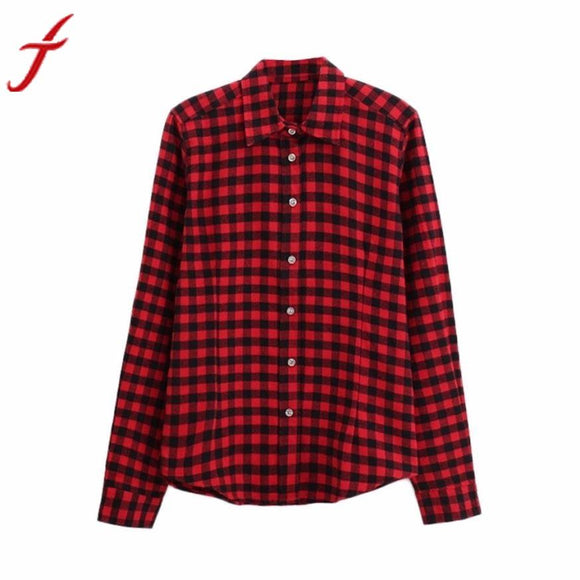Women Long Sleeve Plaid Shirt Blouse Streetwear Women Blouses Shirt Women Plus Size 5XL Cotton Blusas Tops Blouse