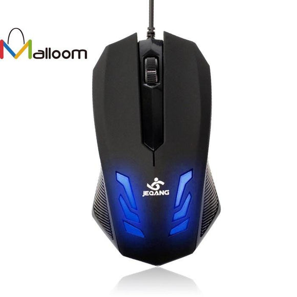 Malloom New Blue-ray LED 2000DPI USB Wired Gaming Optical Mouse for PC Computer