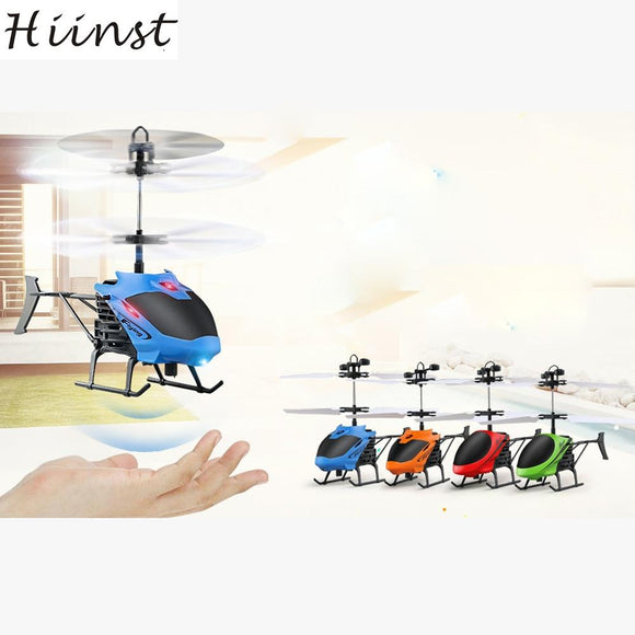 HIINST Flying Mini RC Infraed Induction Aircraft Flashing Light Toys For Kid D-715 Induction Helicopter Drop Ship Aug14