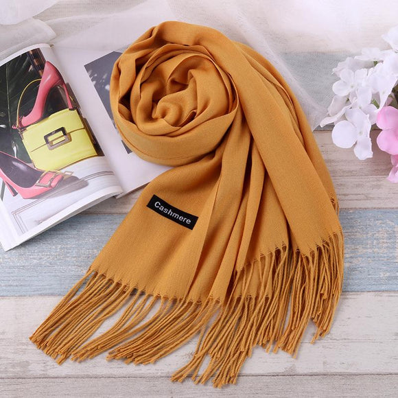 TieSet Luxury Brand Scarf Unisex 2016 Female Male Best Quality Wool Cashmere Scarf Pashmina Tassels Women Men Wrap Shawl S-11