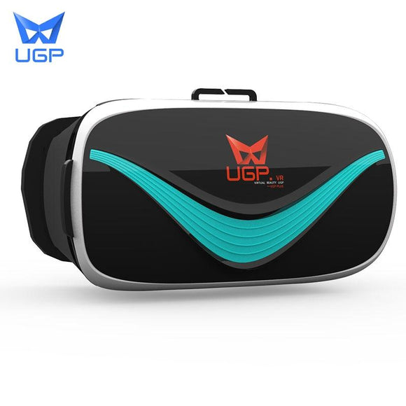 UGP V3 VR Google Cardboard Virtual Reality 3D Glasses Immersive Head-mounted Cinema Goggles For 3.5-6.0 Inch Smartphones