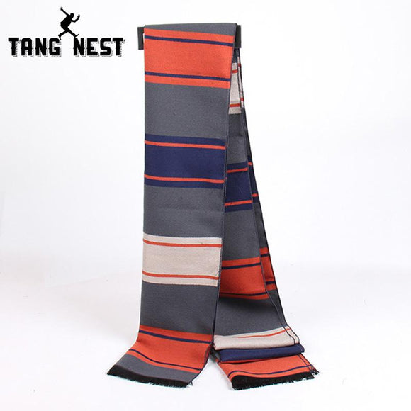 TANGNEST Warm Men's Scarf 2018 Stripped Winter Soft 180 CM Male Fashion New Arrival Scarves PWX207