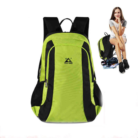 Outdoor Backpack Camping Hiking Travel Backpack Women Waterproof Hunting Fishing Backpack Portable Folding Chair Men Sport Bag