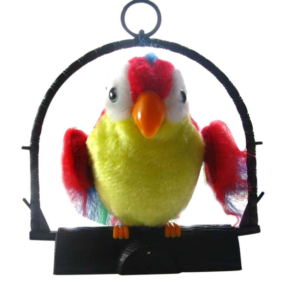 2017 Novelty Waving Wings Talking Talk Parrot Imitates And Repeats What You Say Kids Electronic Toys Children Christmas Fun Gift