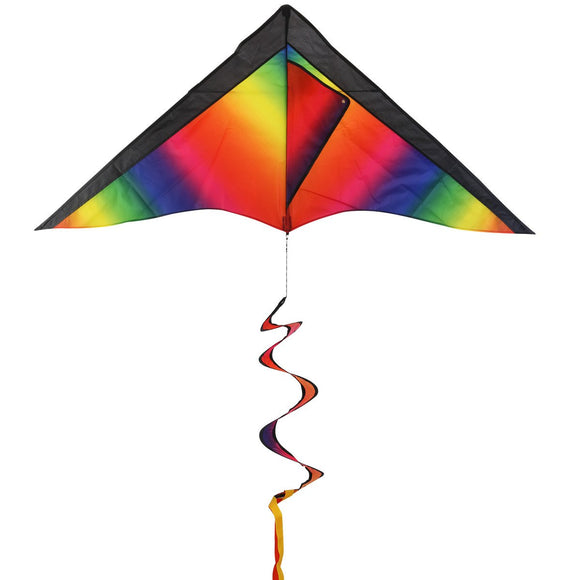 BESTOYARD Rainbow Kite with Stripe Board for Kids Toys for Outdoor Games Activities